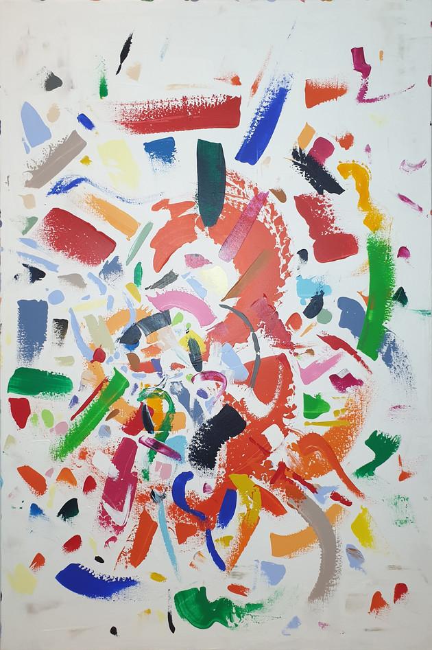 A Colorful Dance! 100x150cm