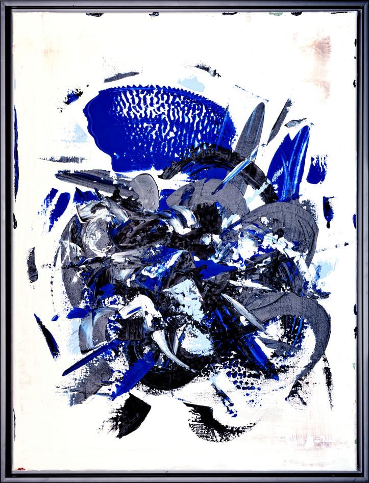 Les Fleur Bleues, 85x65cm