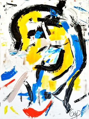 Yellow, 120x160cm
