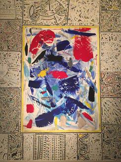 Homage to Alechinsky - 140x120cm