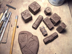 Carving Clay Stamps Tutorial