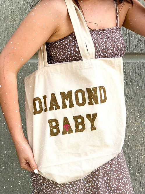 Diamond Baby Canvas Tote Bag