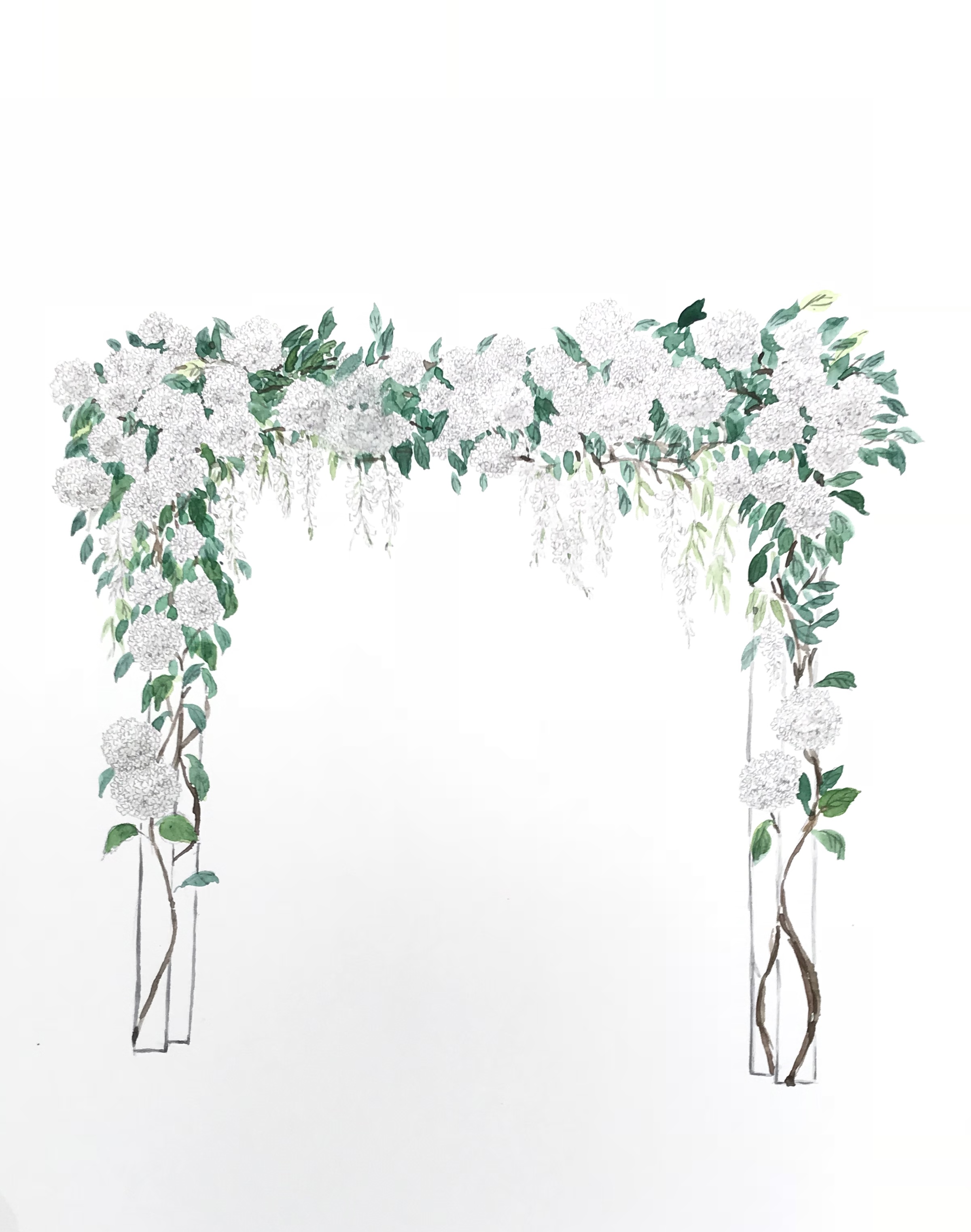 wedding arch rendering
