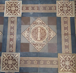 Original tiles on the Sanctuary recently revealed for the 125th celebration.