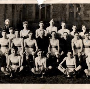 St. Bridget's boys football and running team Fr Rooney and Fr Moss