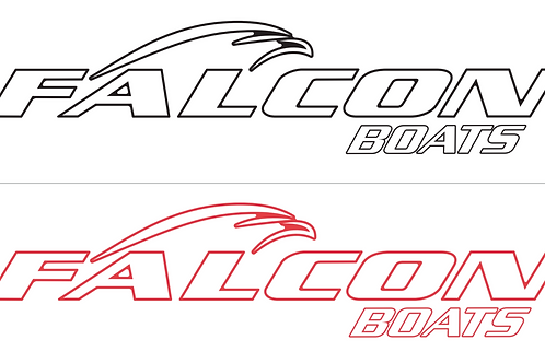 Car Window Decal - Falcon Boats