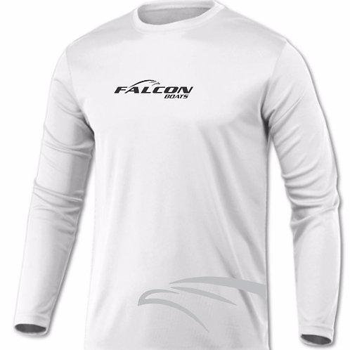 Moisture Management Long-Sleeved Shirt - White