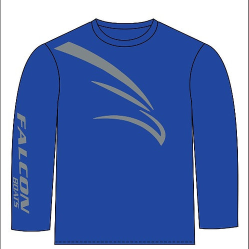 Long-Sleeve T-Bird - Royal/Gray