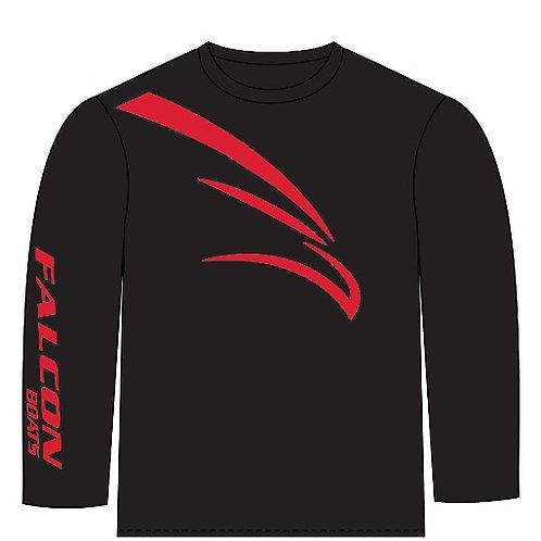 Long Sleeve Cotton T-Bird - Black/Red