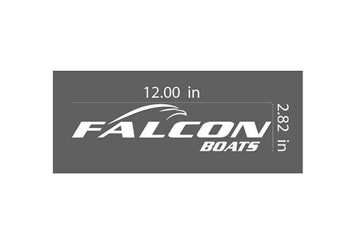 12 inch Vinyl Falcon Logo Window Decal