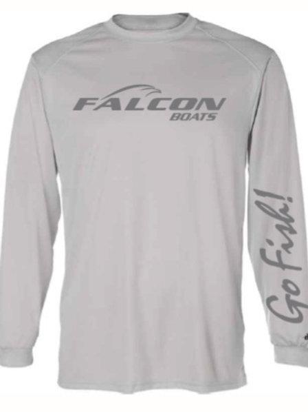Moisture Management Long-Sleeved Shirt - Silver
