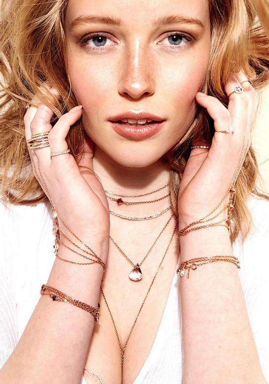 Rosegold Crystal Necklace