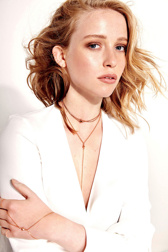 Rosegold Jewelry, Choker, Y Necklace