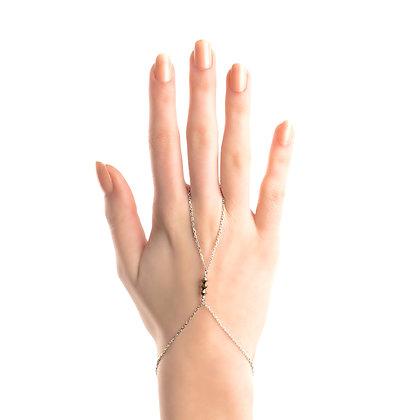 Handchain Mettalic Silver