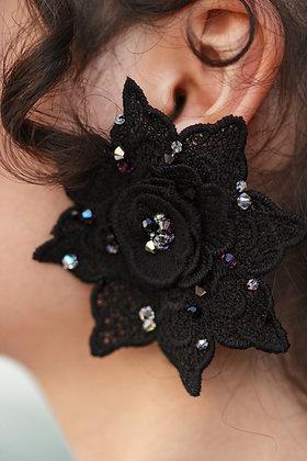 Black Lace Flowers
