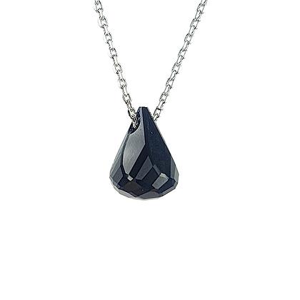 Black Crystal Tear Silver
