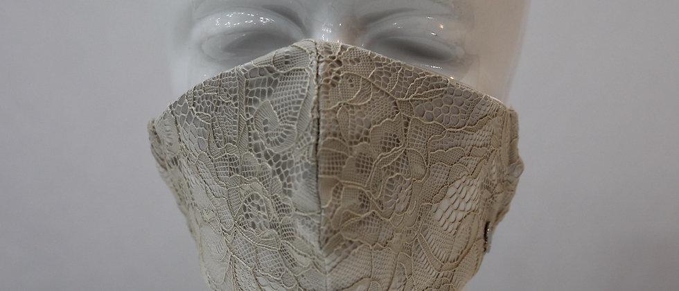 Nude Spitzen Maske