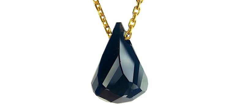 Black Crystal Tear Gold & Rosegold