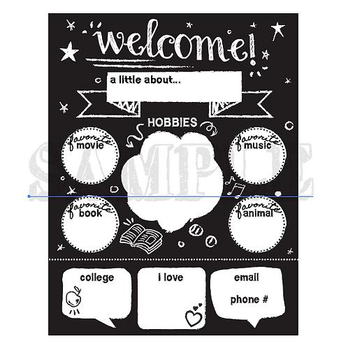 Meet The Teacher Download Worksheet - Chalkboard Theme