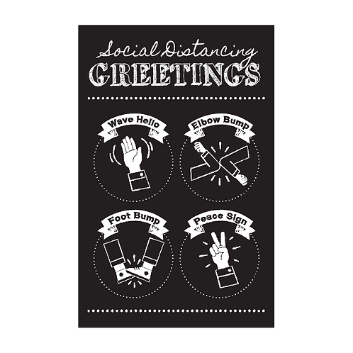Social Distancing Greetings Poster - Chalkboard Theme