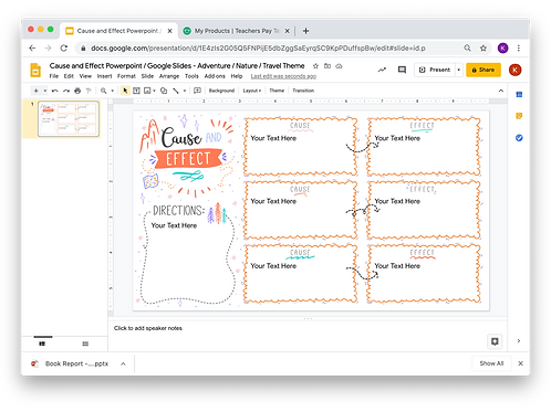Cause and Effect Powerpoint _ Google Slides - Adventure/Nature/Travel 2 Theme