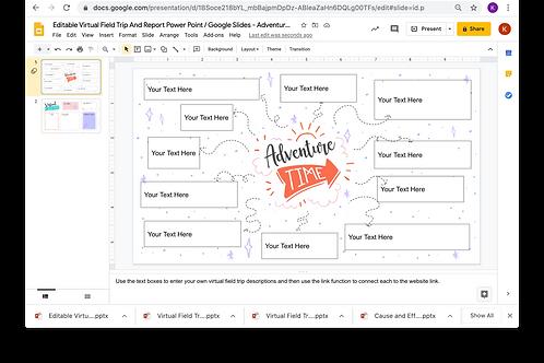Editable Virtual Field Trip & Report Power Point/Google Slides - Adventure Theme