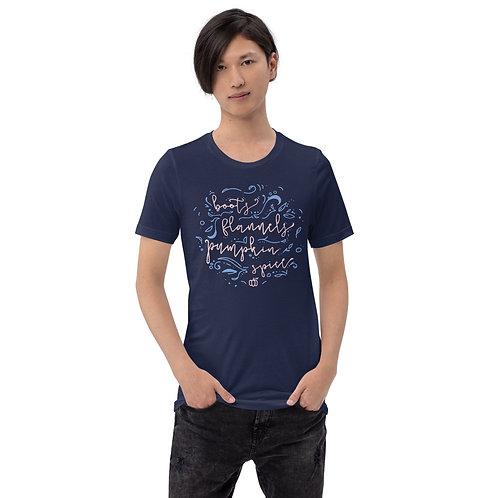 Boots, Flannels, & Pumpkin Spice Short-Sleeve Unisex T-Shirt
