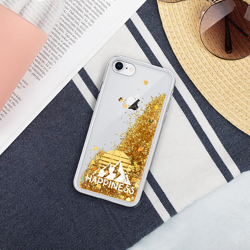 Happiness Liquid Glitter Phone Case