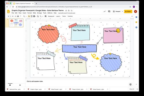 Graphic Organizer Powerpoint / Google Slides - Boho Rainbow Theme