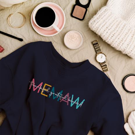 Memaw - thankful.grateful.blessed Crew Sweatshirt