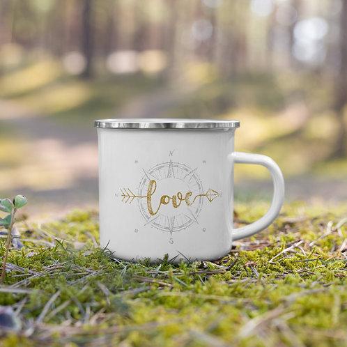 Navigating Love Enamel Mug