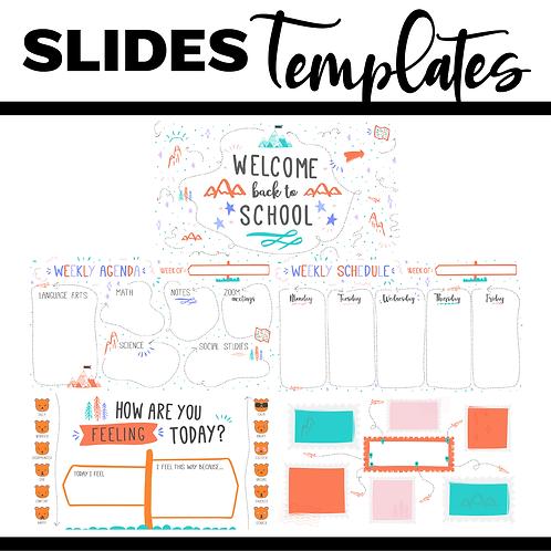 Back To School Slide Template Bundle Powerpoint / Google Slides - Nature 2