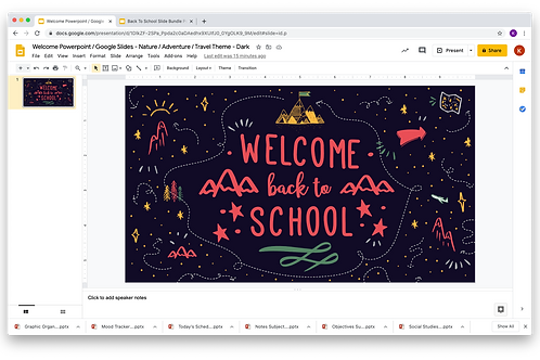 Welcome Powerpoint / Google Slides - Nature/Adventure/Travel Theme