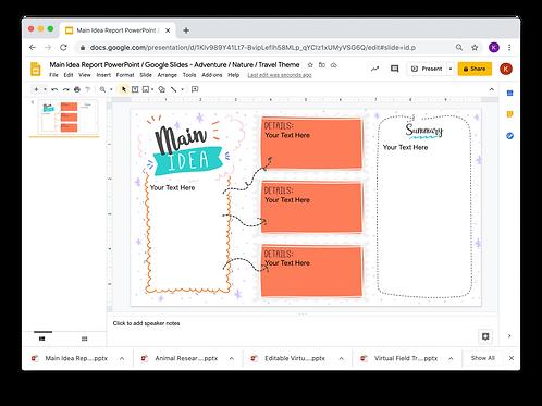 Main Idea Report PowerPoint _ Google Slides - Adventure/Nature/Travel 2 Theme