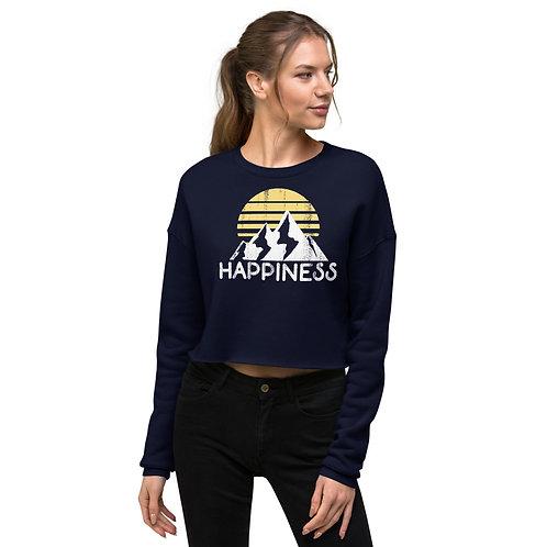 Happiness Crop Sweatshirt
