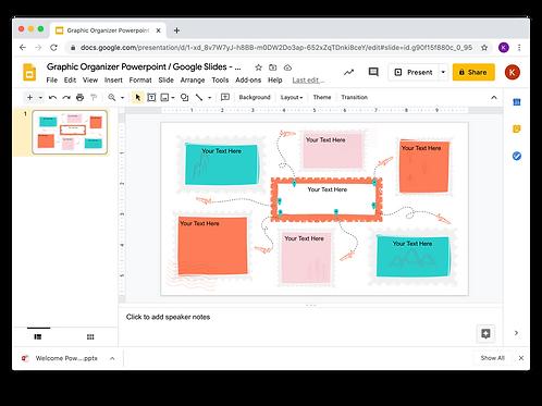 Graphic Organizer Powerpoint / Google Slides - Nature/Adventure/Travel 2