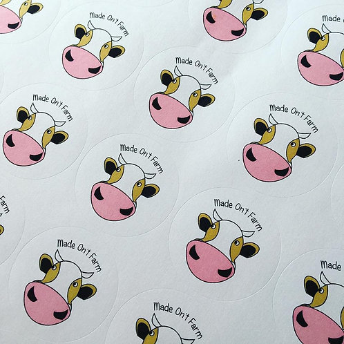 Full Colour round sticker sheets