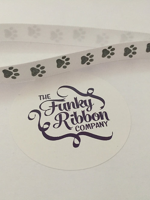 Paw print bauble ribbons