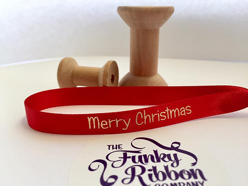 Merry Christmas bauble ribbons