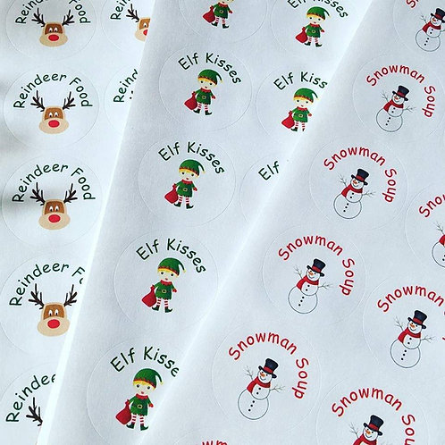 37mm Christmas stickers