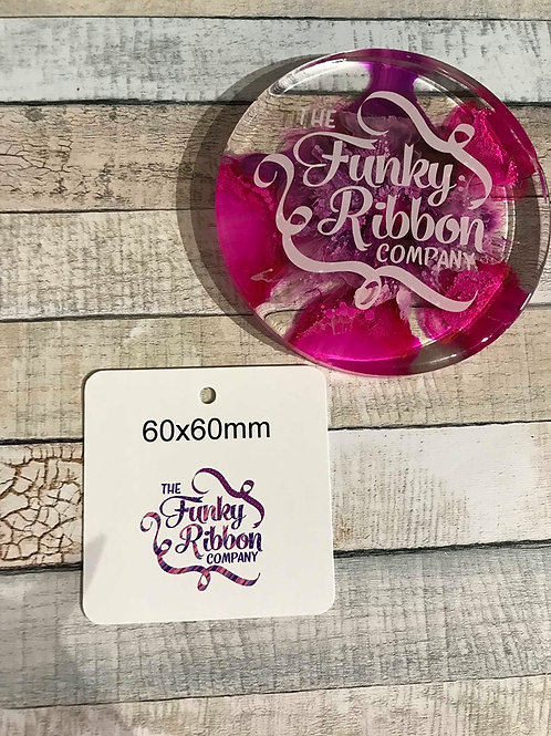 60mm square swing tags