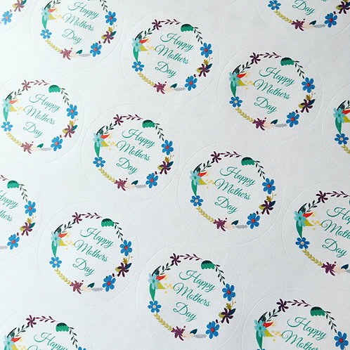 37mm Mother's Day stickers