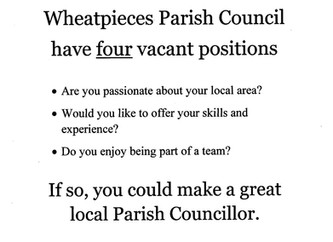 Become a Parish Cllr.
