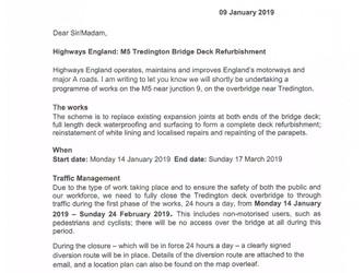M5 Tredington Bridge Deck Refurbishment