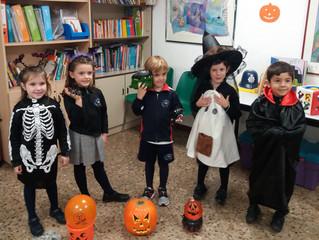 Halloween 2018 Nora, Ainhara, Millán, Nicolás y Pablo