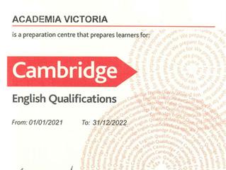 Academia Victoria es Centro de preparación de los exámenes de Cambridge en La Rioja desde 1994