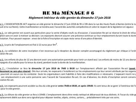 Documents d'inscription au vide grenier du ReMûMénage...rie #6