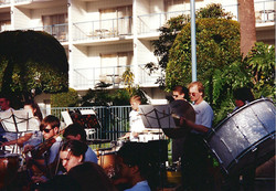 Outdoor rehearsal_percussion