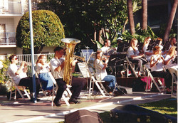 Outdoor rehearsal_tuba