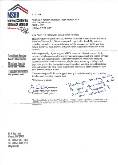 MSHV Thank you Letter